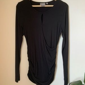 Anthro - Long sleeves black shirt